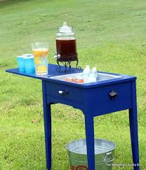 cheap sewing machine cabinets old sewing machine cabinet gets new life as a drink bar could be
