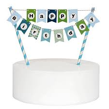 banner cake topper happy birthday cake bunting banner cake topper multicolor pennant