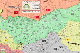 Syria Conflict Map Euphrates Shield The Latest Map By Sham Front Shows The Military
