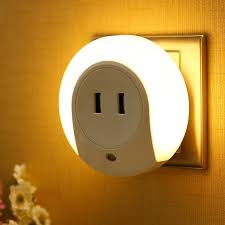 automatic night light with sensor best quality wholesale eu us plug lights sensor 2 usb charging