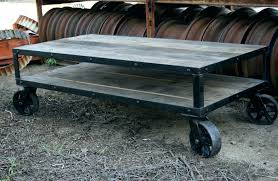 rustic coffee table with wheels industrial coffee table with wheels coffee table wheels coffee