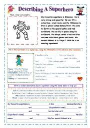 english teaching worksheets superheroes