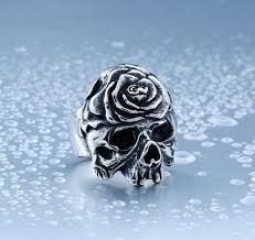 steel skull rings images Stainless steel amazing rose skull ring ancient explorers jpg