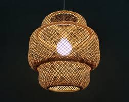 Bamboo Ceiling Light Bamboo Pendant Light Etsy