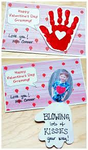 kids valentines day cards handprint s day card blowing your way