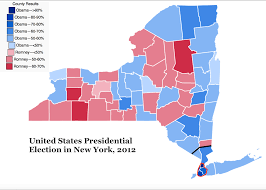 2012 Presidential Election Map by The Quixotic Campaign To Split New York State Geocurrents