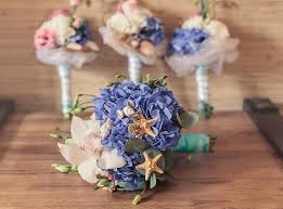 theme wedding decor 20 wedding bouquet ideas seashells and flowers