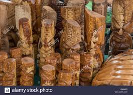 kapaa kauai hawaii flea market with hawaiian wood carvings for