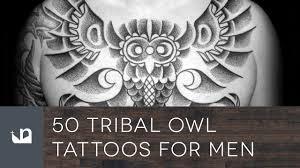 50 tribal owl tattoos for men youtube