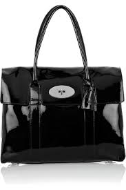 Mulberry Bayswater Patent Leather Laptop Bag 868 A Bayswater