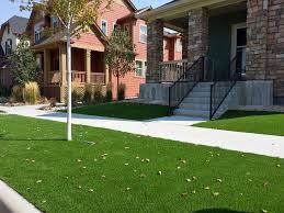 fake grass columbine valley colorado landscape rock front yard ideas