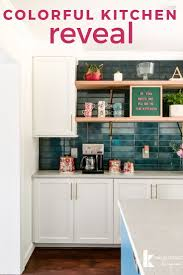 removing kitchen wall cabinets our colorful kitchen remodel reveal before and after