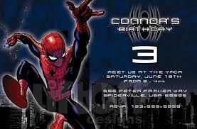 free spiderman birthday party invitation template invitations online