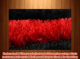 royal collection black red white contemporary design shaggy area