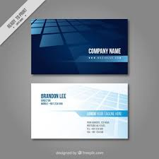 Moo 10 Free Business Cards Business Card In Blue Tones Vector Free Download