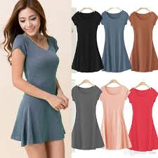 women summer dress new korean mini dress short sleeve candy