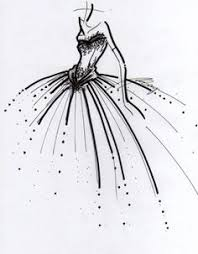 black and white high fashion drawings google search fashion