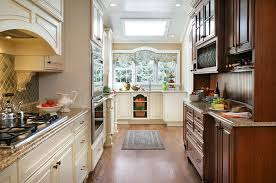 Kitchen With Track Lighting by Two Colored Kitchen With Track Lighting Kitchen Traditional And