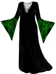 Amazon Com Halloween Costumes Amazon Com Women U0027s Green Witch Velvet Plus Size Supersize