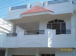 simple home balcony ideas white painted exterior wall black