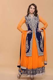 design of jacket suit orange velvet jacket net anarkali suit asian women clothing