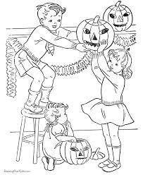kid halloween pumpkin coloring pages 022
