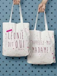 sac en toile personnalisable sac evjf léonie dit oui appellez moi madame