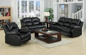 Recliner Sofa Suite Real Genuine Leather Recliner Sofa Suite New Black Brown 3 2 1 3