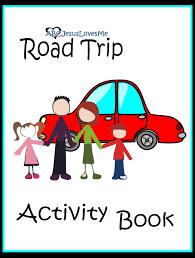 free road trip activity book download print