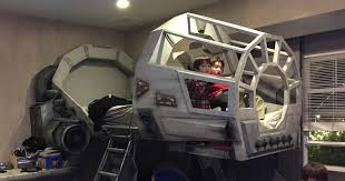 Millennium Bedroom Furniture by Creative Dad Makes His Son An Epic Star Wars Millennium Falcon Bed