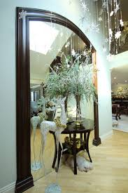 front entrance foyer christmas decor transitional entry san