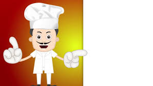 animation cuisine of chef cooking at kitchen animation