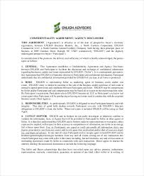 real estate confidentiality agreement u2013 6 free word pdf