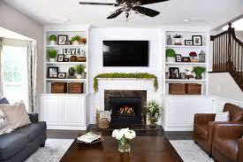 family room makeover family room makeover with white built ins and charcoal couches