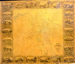 Lowell Massachusetts Map by Plan Of The City Of Lowell Massachusetts From Actual Surveys By