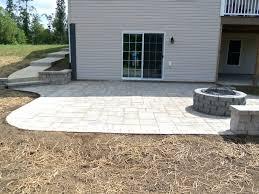 patio ideas concrete patio pavers lowes concrete paver patio