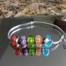 bracelet pandora murano images Pandora silver red purple green orange and blue murano beads jpg