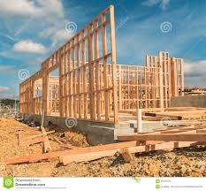 construction of new home building new zealand stock photo image