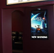 lighted movie poster frame amazon com illuminated backlit poster light box led backlit movie