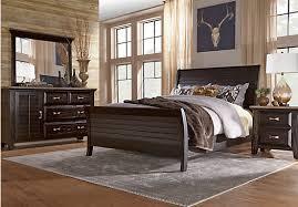Rooms To Go Bedroom Sets King Nantucket Breeze Black 5 Pc Queen Sleigh Bedroom Bedroom Sets Black