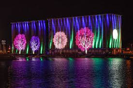 grain elevator light display canalside buffalo