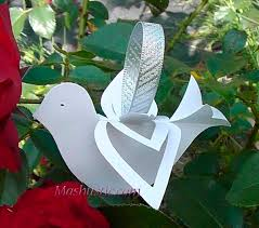 paper dove of peace template paper birds crafts pinterest