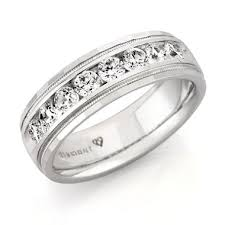 mens white gold diamond wedding bands 1 50 ct t w men s diamond wedding band in 14k white gold
