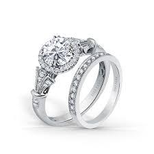 kirk kara wedding band lori halo engagement ring and wedding band mccaskill and company