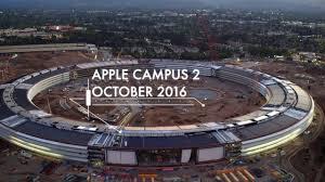 vidéo aérienne de l u0027apple campus 2 en 4k et sa façade lumineuse