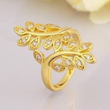 finger gold rings images Fashion womens jewellery 18k gold plated rings cubic zirconia midi jpg