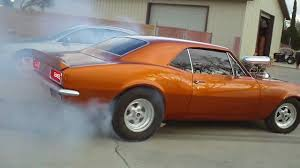 burnt orange camaro 1967 blown 454 camaro burnout pt 2