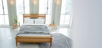 Scandinavian Bed Frames Guri Oak Signature Bed Frame King Furniture Shop