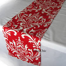 table runner or placemats red table runner red table runner damask table runner red white