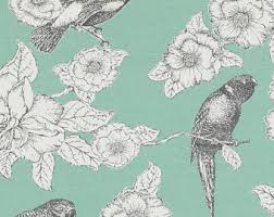 Mint Green Upholstery Fabric Purple Green Upholstery And Curtain Fabric With Birds Modern